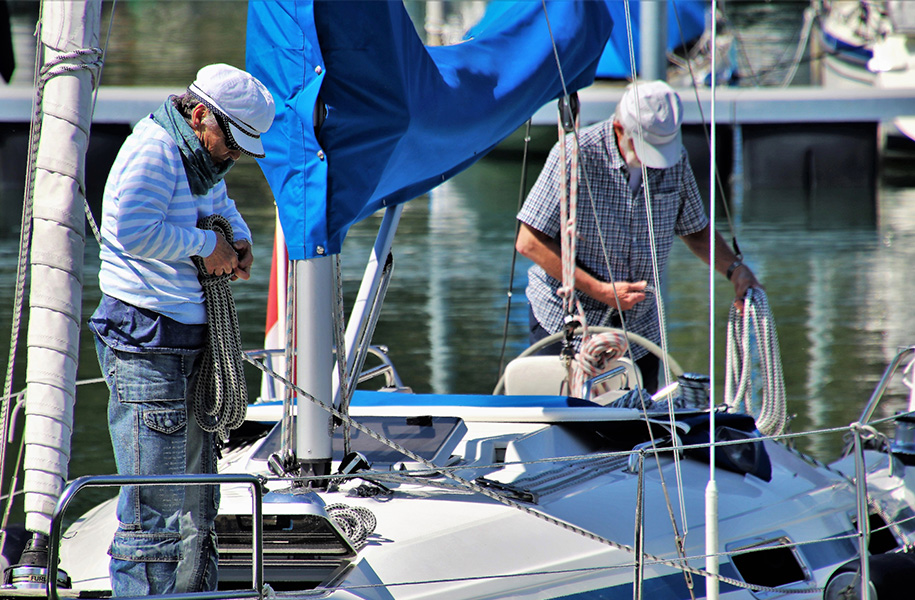 Superannuation | Sorting out rigging on yacht